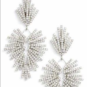 Cristabelle Crystal Stick Chandelier earrings